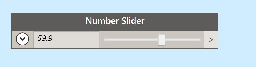слайдер для создания чисел
