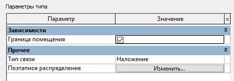 включение границ помещения в связанном архитектурном файле